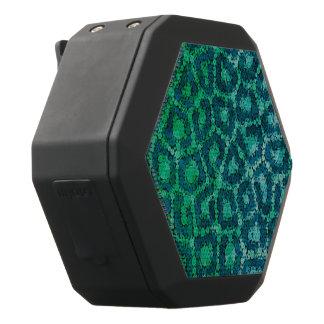 Türkis-Grün-strukturierter Gepard Schwarze Bluetooth Lautsprecher