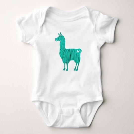 Türkis-Pelzlama-Baby-Bodysuit Baby Strampler