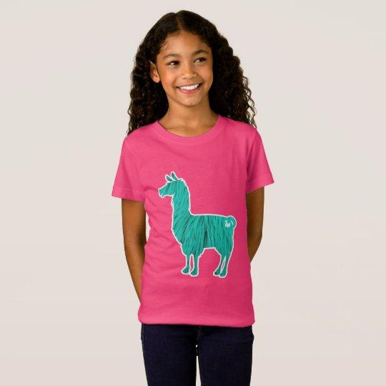 Türkis-Pelzlama scherzt T - Shirt