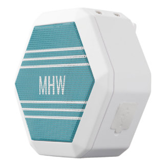 Türkis Stripes kundenspezifische Weiße Bluetooth Lautsprecher