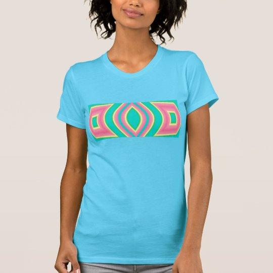 Türkis u. rosa Mode-Shirt für Frauen T-Shirt