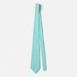 Türkis und weißes Gingham-Karo-Muster Krawatte