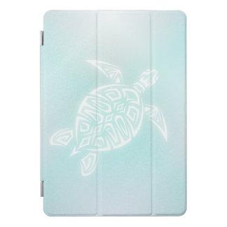Türkis-Weiß-Schildkröte iPad Pro Cover