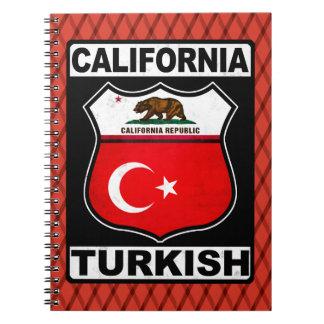 Türkischer amerikanischer Notizblock Kaliforniens