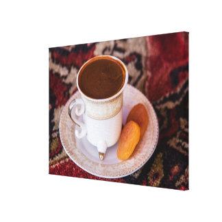 Türkischer Kaffee und Frucht Leinwanddruck