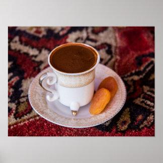 Türkischer Kaffee und Frucht Poster
