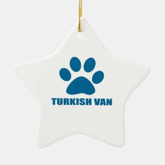 TURKISH VAN CAT DESIGNS KERAMIK ORNAMENT