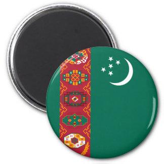 Turkmenistan Runder Magnet 5,1 Cm