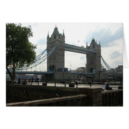 Turm-Brücke Grußkarte
