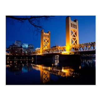 Turm-Brücke - Sacramento, CA Postkarte