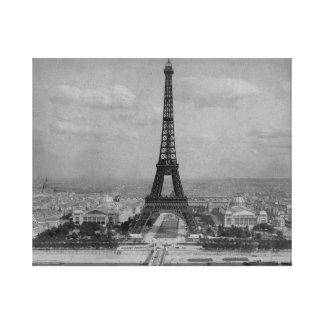 Turm Frankreichs, Paris Eiffel, retro Foto Leinwanddruck