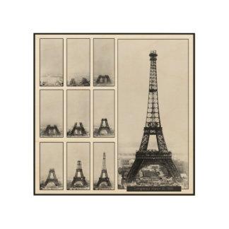 Turm Gustav Eiffels im Bau Holzdruck