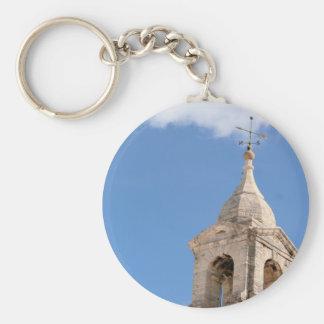 Turm im Wolken keychain Schlüsselanhänger
