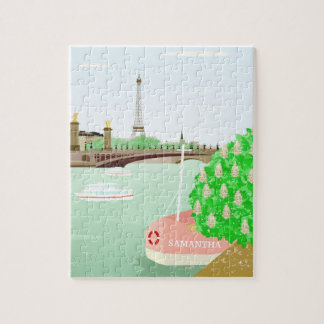 Turm-Puzzlespiel Monogramm-Paris Eifel mit