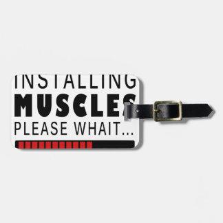 Turnhallen-Fitness und -muskeln Gepäckanhänger