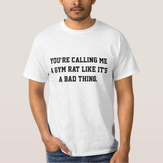 Turnhallen-Spaß-Turnhallen-Ratte T-Shirt