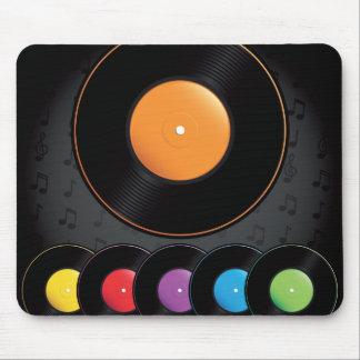 Turntable-Platten in den klaren Farben Mousepad