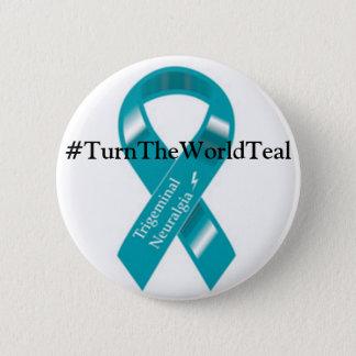 #TurnTheWorldTeal Knopf Runder Button 5,7 Cm