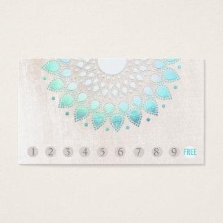 Turquoise Lotus de fidélité de client de 10 Cartes De Visite