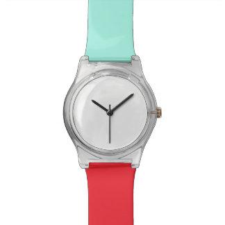 Turuoise et montre rouge de May28th Montres Bracelet