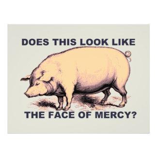 Tut dieses aussehen wie das Gesicht der Gnade?  21,6 X 27,9 Cm Flyer