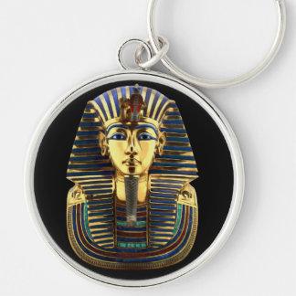 Tutankhamun Silberfarbener Runder Schlüsselanhänger