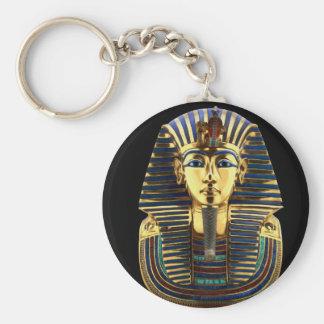 Tutankhamun Standard Runder Schlüsselanhänger