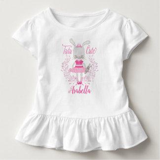 Tutu-niedliches Häschen personalisiert Kleinkind T-shirt