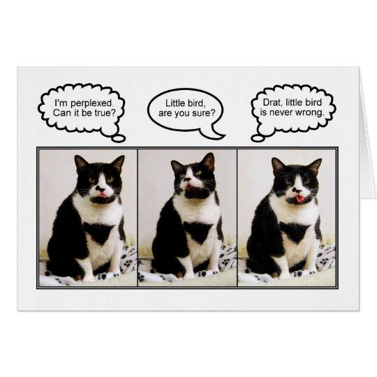 Tuxedo-Katzen-Geburtstags-Spaß-Karte Grußkarte