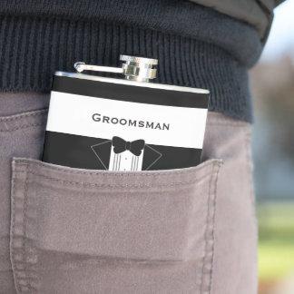 Tuxedo-Trauzeuge-personalisierte angesagte Flasche