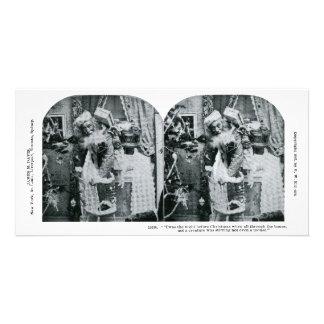 Twas la nuit avant Noël Stereoview 1897 Photocarte Personnalisée