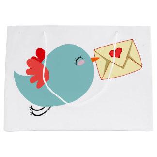 Tweeten Vogel-Liebemitteilung Große Geschenktüte