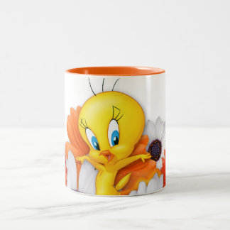 Tweety avec des marguerites tasses