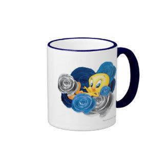 Tweety avec des roses tasses à café