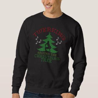 Twerkin um die Weihnachtsbaum-Strickjacke Sweatshirt