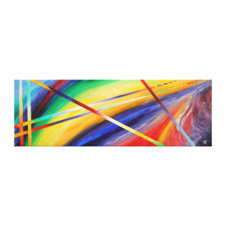 Twighlight der Götter - abstrakte Malerei Leinwanddruck