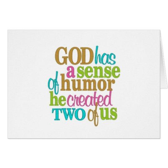 TWIN=GOD/MOM HATTE EINE RICHTUNG VON HUMOR=HAPPY GRUßKARTE