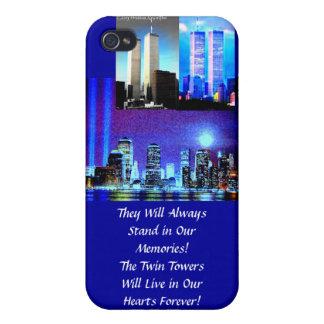 TWIN TOWER. .WE WIRD NIE FOREGET… MOMORIES HÜLLE FÜRS iPhone 4