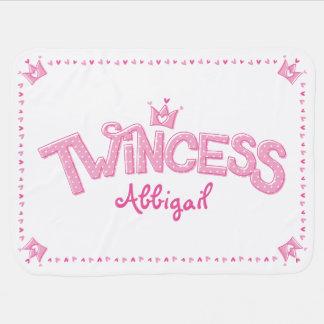 Twincess Doppelmädchen-Baby-Decke (Rosa) Kinderwagendecke