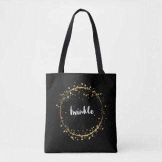 """""""Twinkle"""" mit goldener Stern-Kreis-Taschen-Tasche Tasche"""