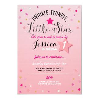 TwinkleTwinkle, den wenig Stern-Geburtstags-Party Karte