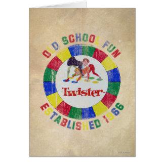Twister-Abzeichen Grußkarte