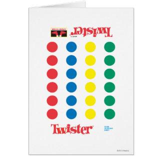 Twister-Spiel-Matte Grußkarte
