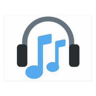 Twitter emoji - Music, Headphone Postkarte