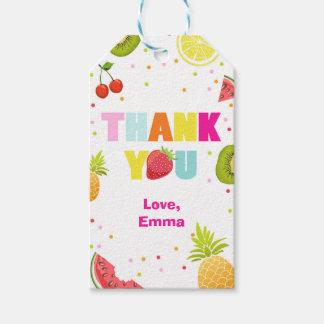 Two-tti Frutti danken Ihnen, die fruchtigen Geschenkanhänger
