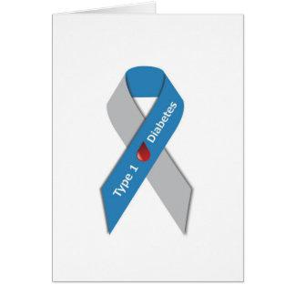 Typ- 1diabetes-Bewusstseins-Band Karte