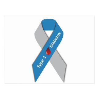 Typ- 1diabetes-Bewusstseins-Band Postkarte