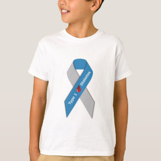 Typ- 1diabetes-Bewusstseins-Band T-Shirt