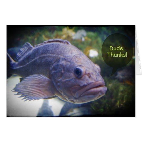 Typ-Dank-Fische mit schwarzer Grenze danken Ihnen Karte