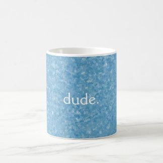 Typ-Tasse, abstrakter Hintergrund Kaffeetasse